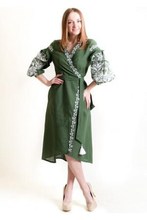 Сукня-халат «Ява» темно-зеленого кольору