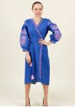Сукня-халат «Ява» кольору електрик