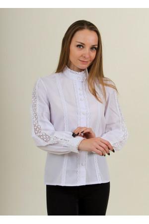 Блуза «Мережка» белого цвета