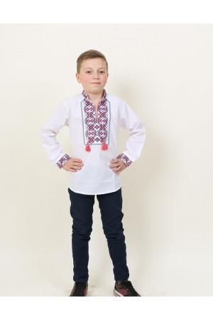 Вышиванка для мальчика «Легенда» с красно-черной вышивкой