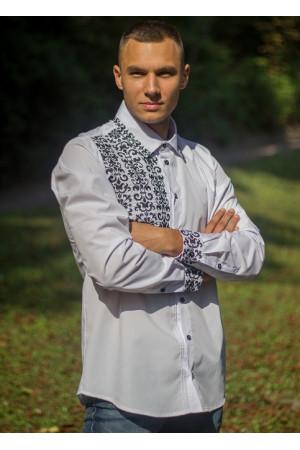 Вышиванка «Сиверин» с черной вышивкой