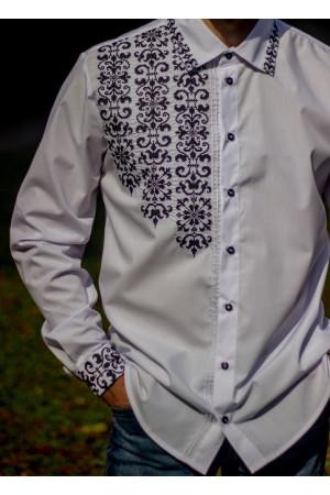 Вишиванка «Сиверин» з чорною вишивкою