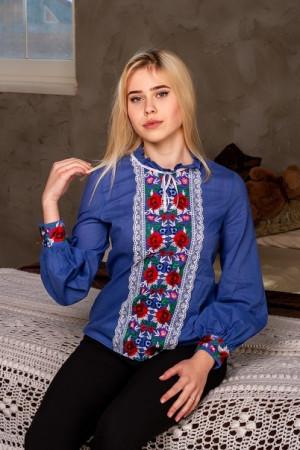 Вышиванка «Агнесса» цвета джинс