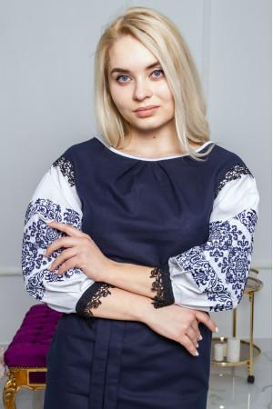Платье «Даяна» темно-синего цвета
