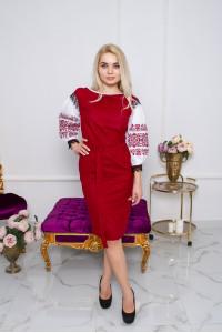 Платье «Даяна» вишневого цвета