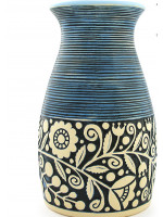 Голубая ваза «Веночек» (23 см)