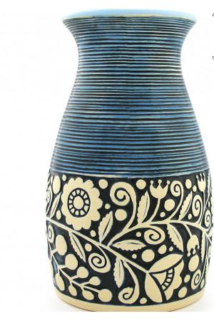 Блакитна ваза «Віночок» (23 см)