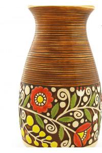Коричнева ваза «Віночок» (23 см)