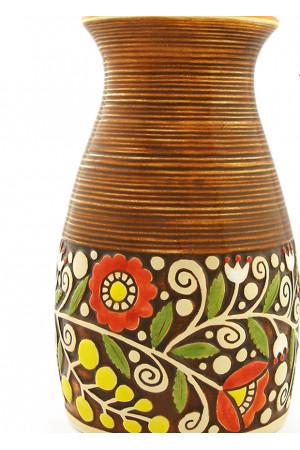 Коричневая ваза «Веночек» (23 см)