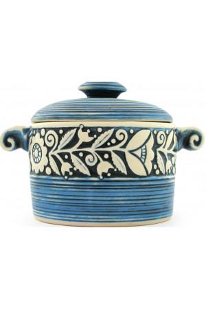 Голубая кастрюлька «Веночек» (10 см)