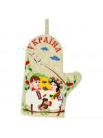 Варежка-прихватка «Оксана и Вакула» левая