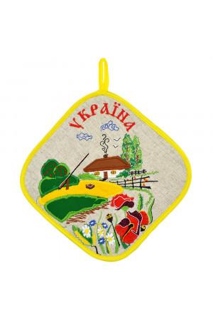 Прихватка-ромб «Село»
