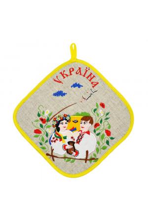 Прихватка-ромб «Оксана і Вакула»