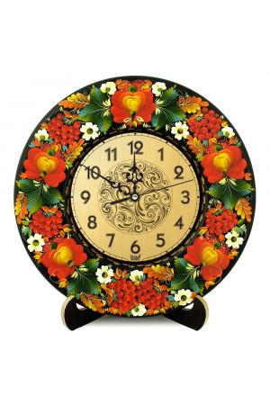 """Настінний годинник """"Калина та чорнобривці"""""""