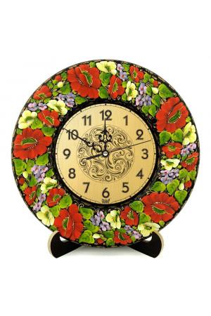 """Настенные часы """"Маки и барвинок"""""""