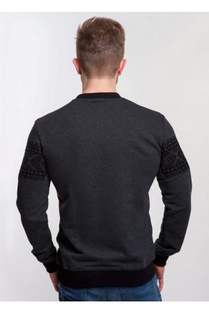 Світшот «Базальт» з чорною вишивкою
