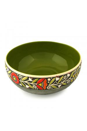 Зеленый салатник «Веночек»