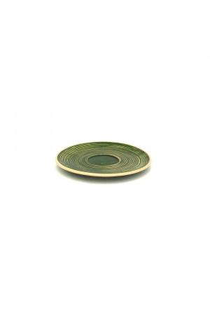 Зелене блюдце «Віночок»