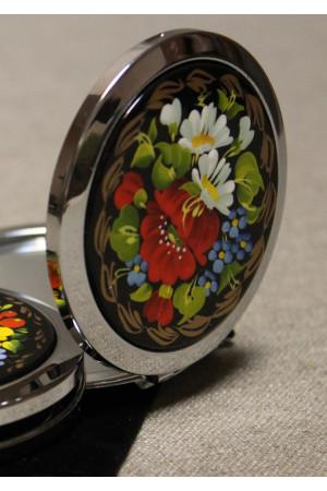 Зеркало карманное с росписью