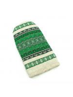 Рукавичка-прихватка «Зелений орнамент»