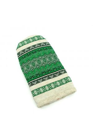 Варежка-прихватка «Зеленый орнамент»