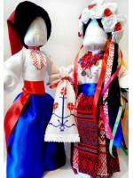 Сувенірні авторські ляльки «Весільна пара»