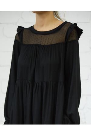 Платье «Женева» черного цвета