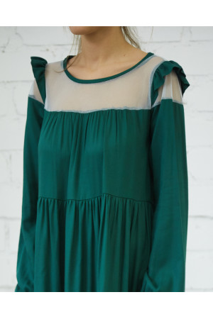 Платье «Женева» зеленого цвета