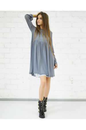 Платье «Волтана» серого цвета
