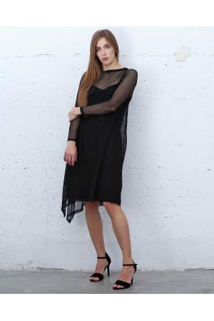 Платье «Черлс» черного цвета