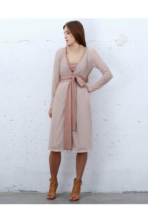 Сукня «Меренга» кольору пудри