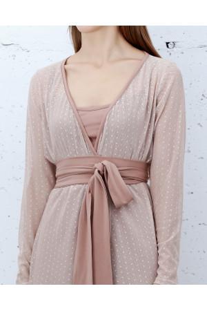 Платье «Меренга» цвета пудры