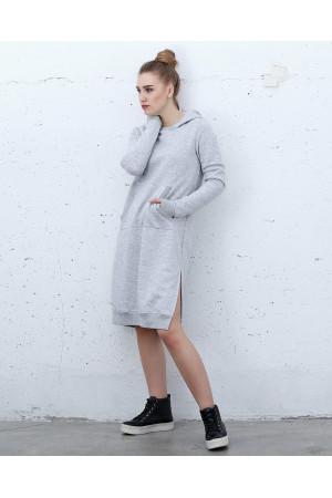 Платье «Винд» серого цвета