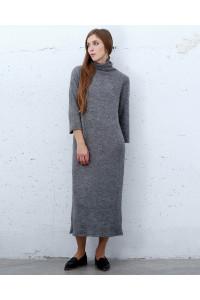 Платье «Стенси» серого цвета