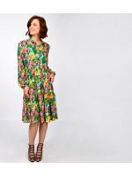 Платье «Твинс» с цветочным принтом