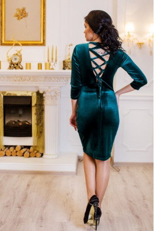 Платье «Амалия» зеленого цвета