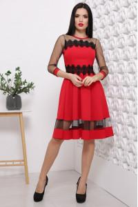 Платье «Рио» красного цвета