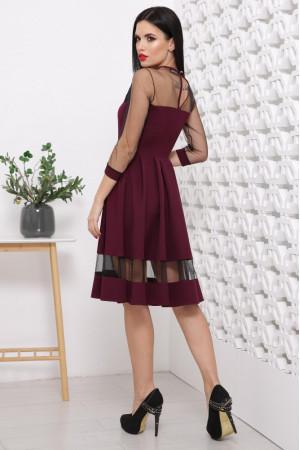 Платье «Рио» цвета бордо