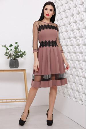 Платье «Рио» цвета кофе