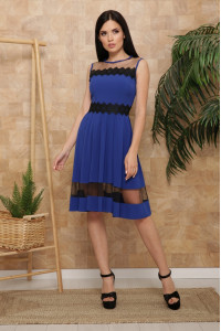 Сукня «Ріо» кольору електрик, без рукавів