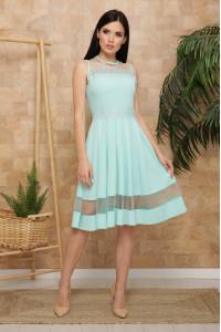 Платье «Рио» цвета мяты, без рукавов
