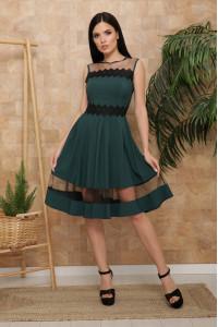 Платье «Рио» изумрудного цвета, без рукавов