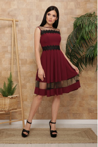 Сукня «Ріо» кольору марсала, без рукавів