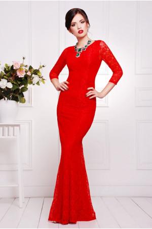Сукня максі вечірня червона – купити в Києві 1eca39262467f