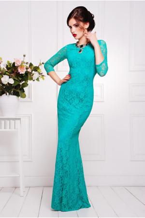 Платье «Арсения» бирюзового цвета
