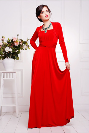 Платье «Анита» красного цвета