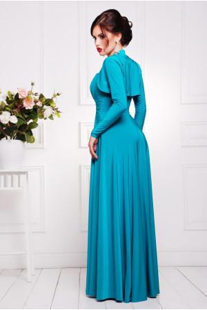 Платье «Анита» бирюзового цвета