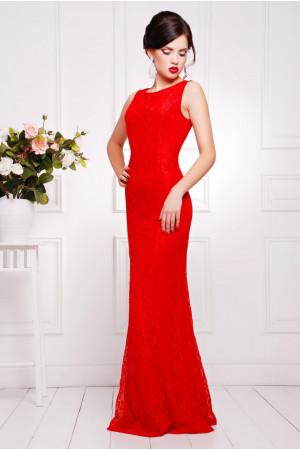 Платье «Мимоза» красного цвета