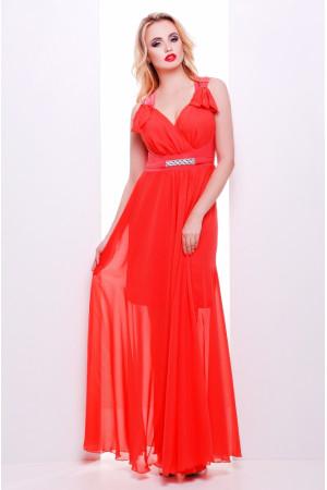 Платье «Глория» кораллового цвета