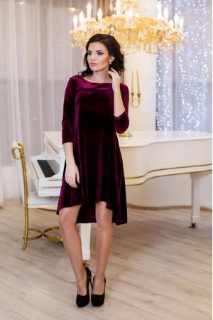 Платье «Скарлетт» бордового цвета